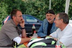 DHV-Geländereferent Björn Klaassen im Gespräch mit Tommy Walker und Peter Ziegler