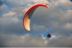Simon Kammerlander beim Doppelsitzerflug
