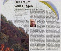 Artikel in der Nürtinger Zeitung vom 10.11.2012 über Rene Rau