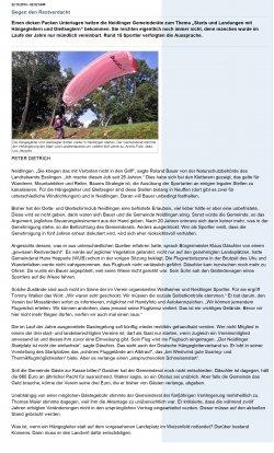 Bericht zur Gemeinderatssitzung Neidlingen aus dem Teckboten