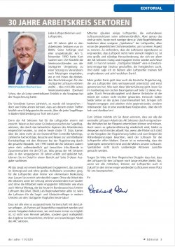 """Auszug aus """"Der Adler"""", Magazin des BWLV e.V., Ausgabe 11/2020"""